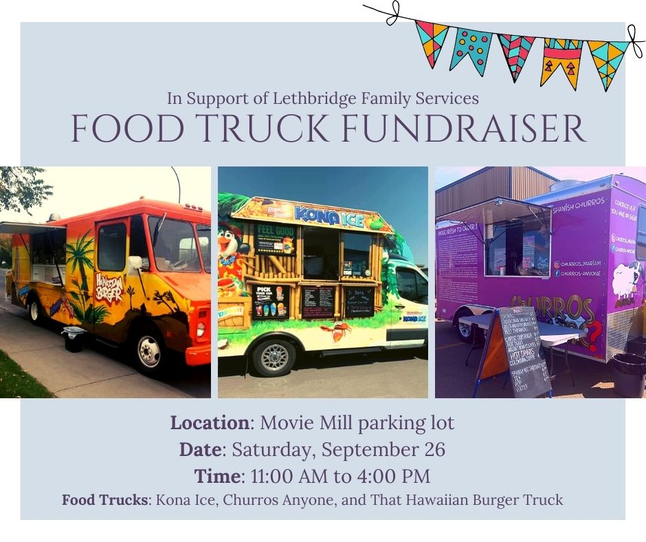 Food truck fundraiser for LFS involving Kona Ice, Churros Anyone, and That Hawaiian Burger Truck. Saturday, September 26 from 11 AM - 4 PM.